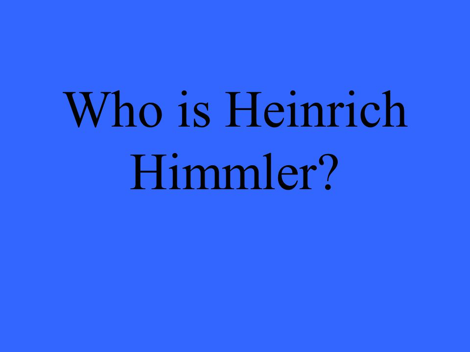 Who is Heinrich Himmler