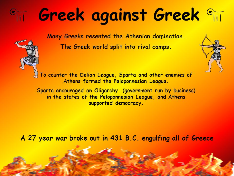 Results of the Persian Wars The Greek sense of uniqueness was increased. Athens emerged as the most powerful city-state in Greece. Athens organized th