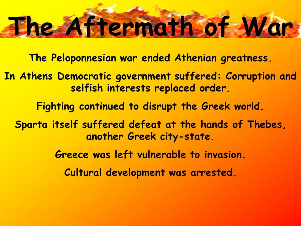 Peloponnesian War Athens faced a serious geographic disadvantage from the start. Sparta was located inland, the Athenian navy was no good against them