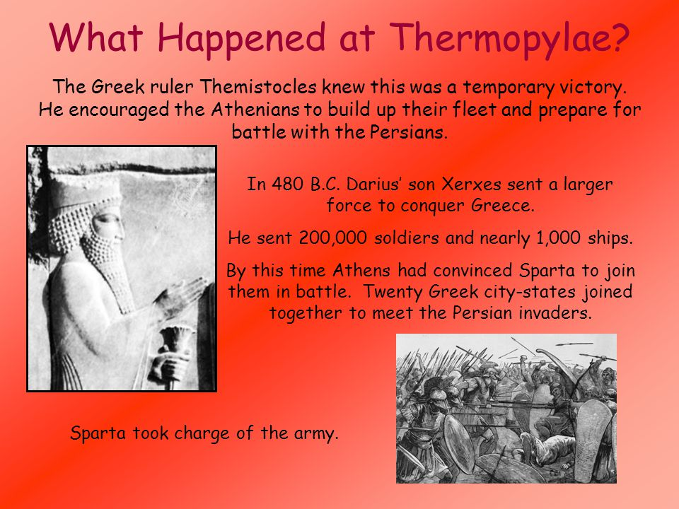 What Happened at Thermopylae.The Greek ruler Themistocles knew this was a temporary victory.
