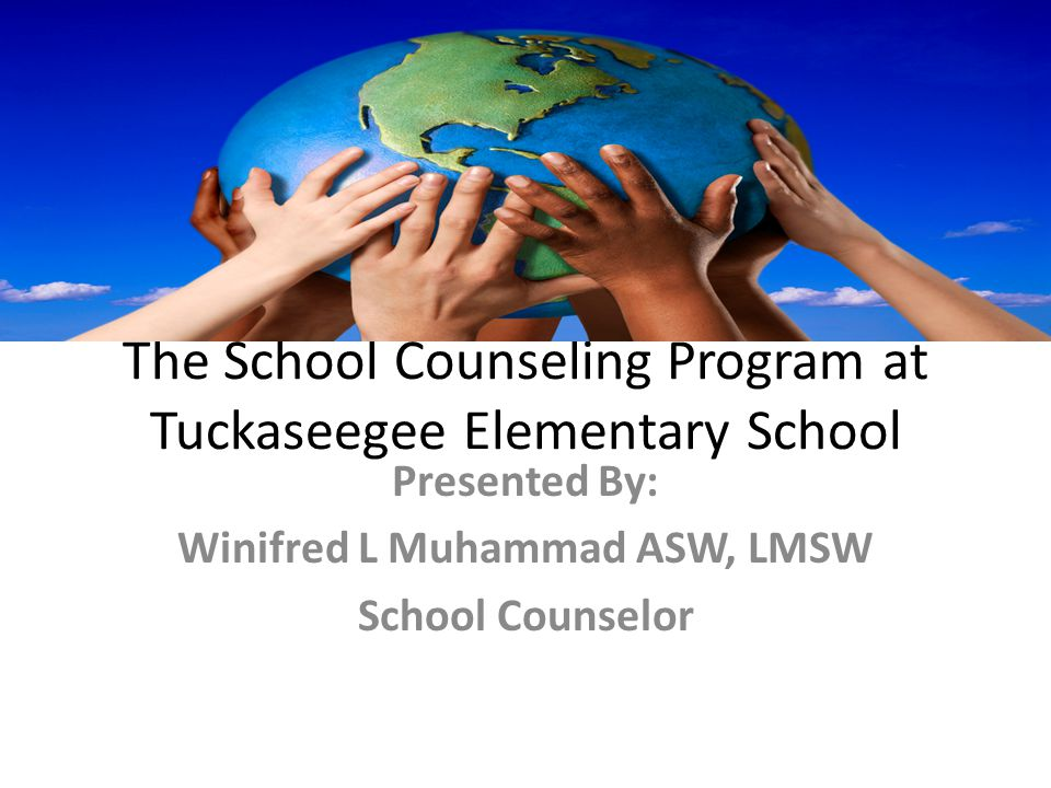 The School Counseling Program at Tuckaseegee Elementary School Presented By: Winifred L Muhammad ASW, LMSW School Counselor