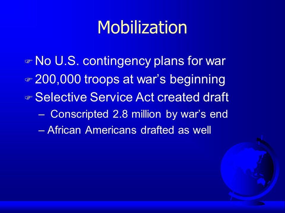 Mobilization F No U.S.