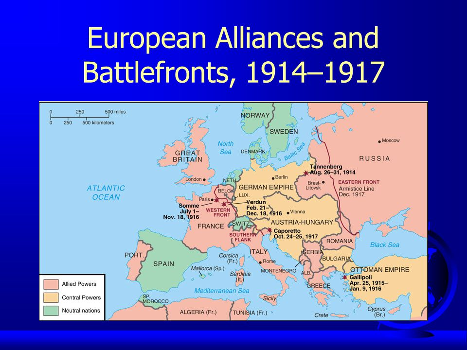 European Alliances and Battlefronts, 1914–1917