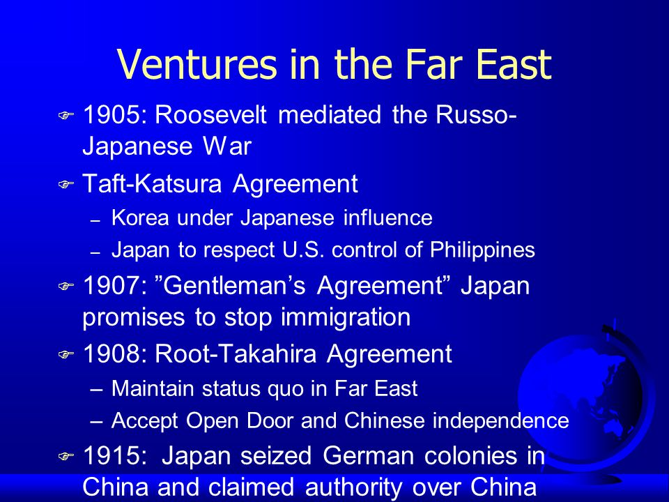 Taft and Dollar Diplomacy F Taft substituted economic force for military F American bankers replaced Europeans in Caribbean F Taft s support for U.S.