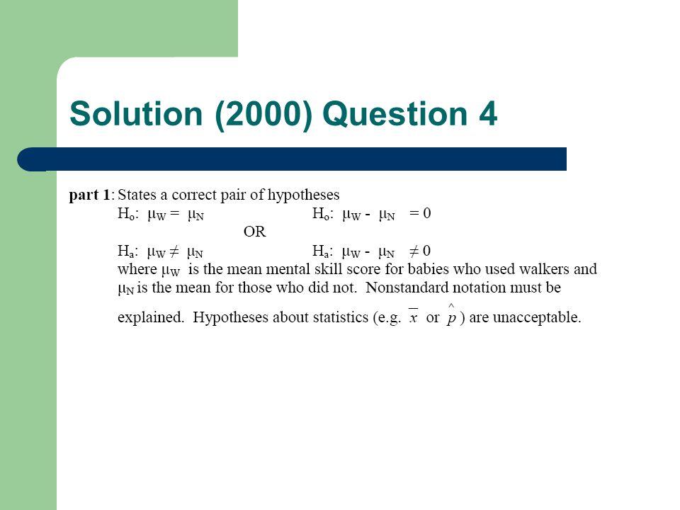 Solution (2000) Question 4