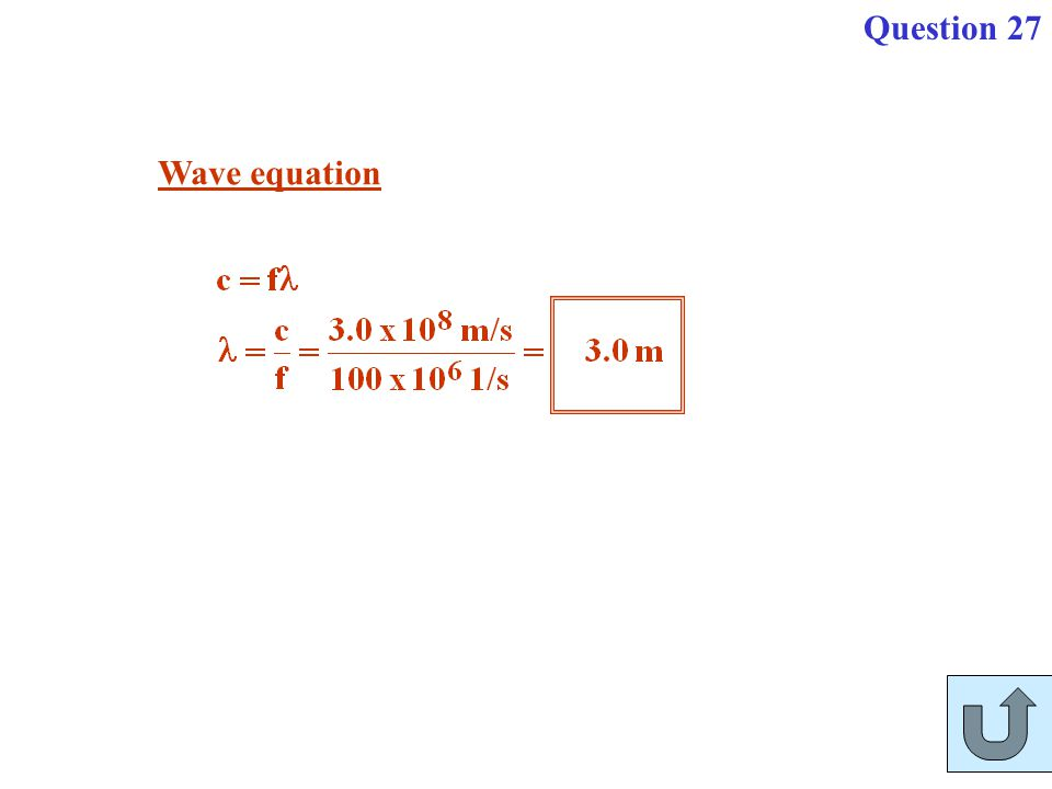 Wave equation Question 27