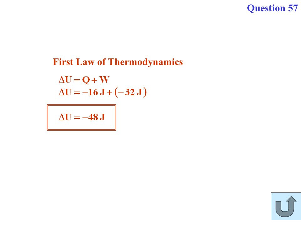 First Law of Thermodynamics Question 57