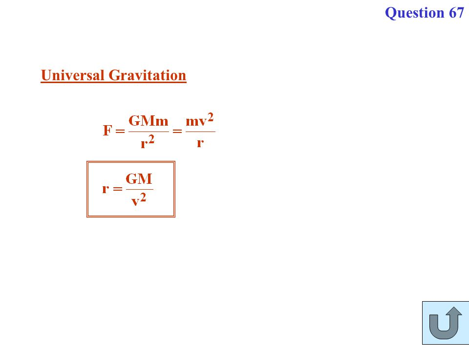 Universal Gravitation Question 67