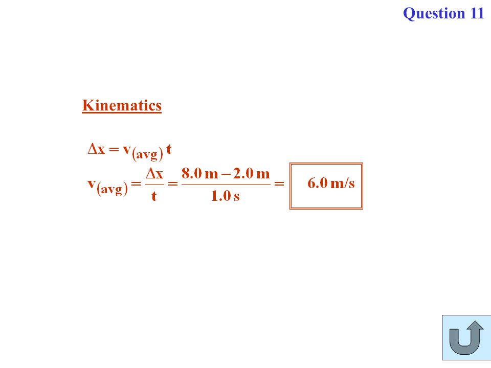 Kinematics Question 11