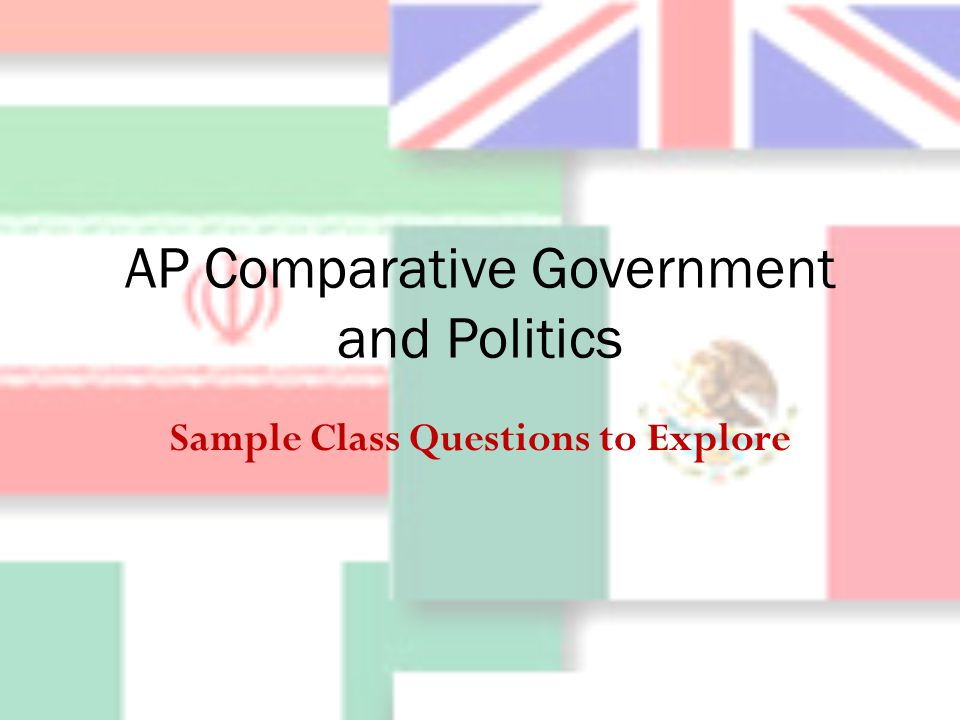 AP Comparative Government and Politics Sample Class Questions to Explore