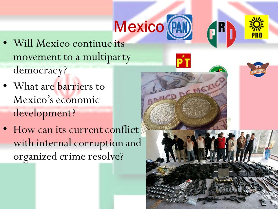 Mexico Will Mexico continue its movement to a multiparty democracy.