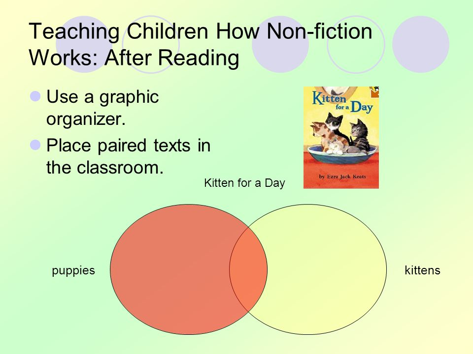 Teaching Children How Non-fiction Works: After Reading Use a graphic organizer.