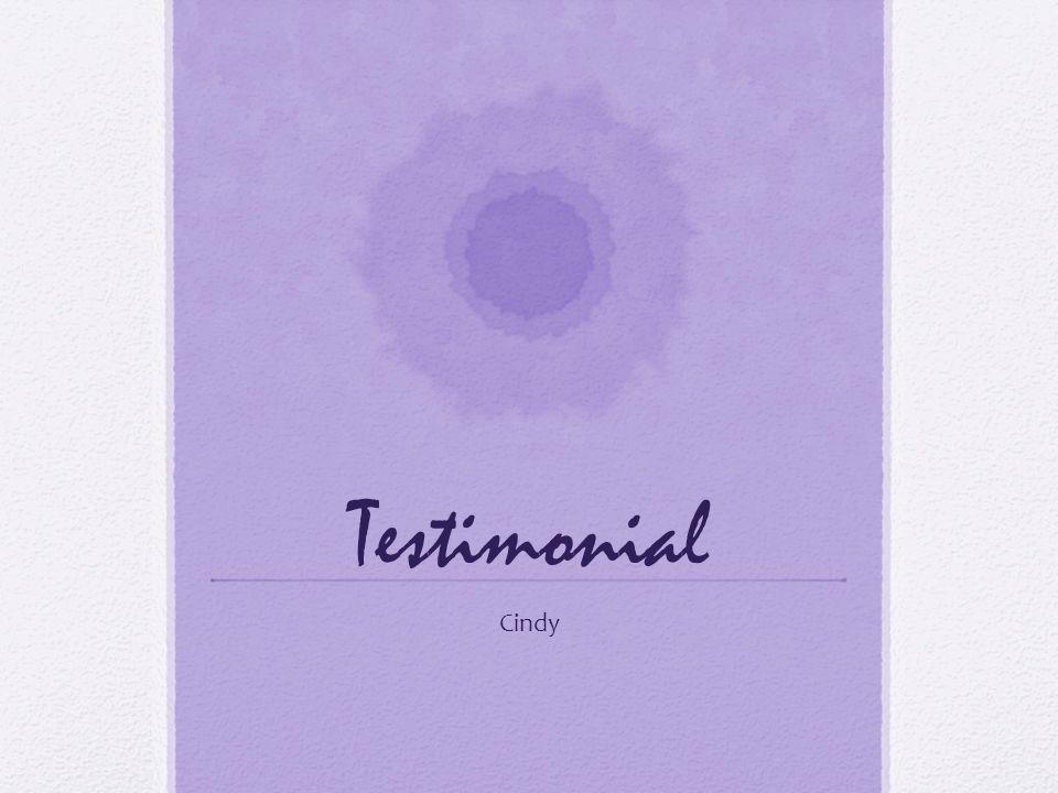 Testimonial Cindy