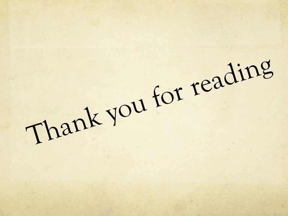 Thank you for reading