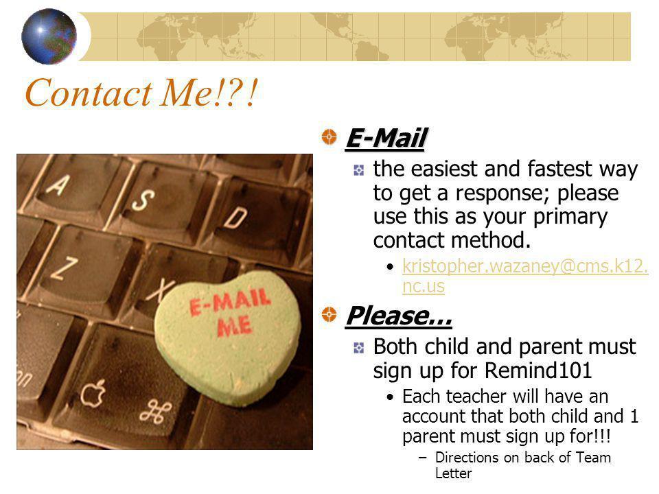 Contact Me! .