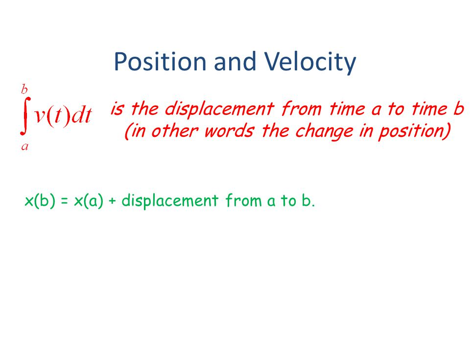If the velocity is positive… Positive acceleration means you are speeding up and Negative acceleration means you are slowing down If the velocity is negative… Negative acceleration means you are speeding up and Positive acceleration means you are slowing down.