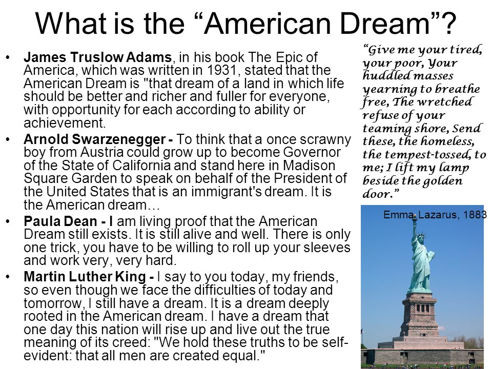 What is the American Dream .