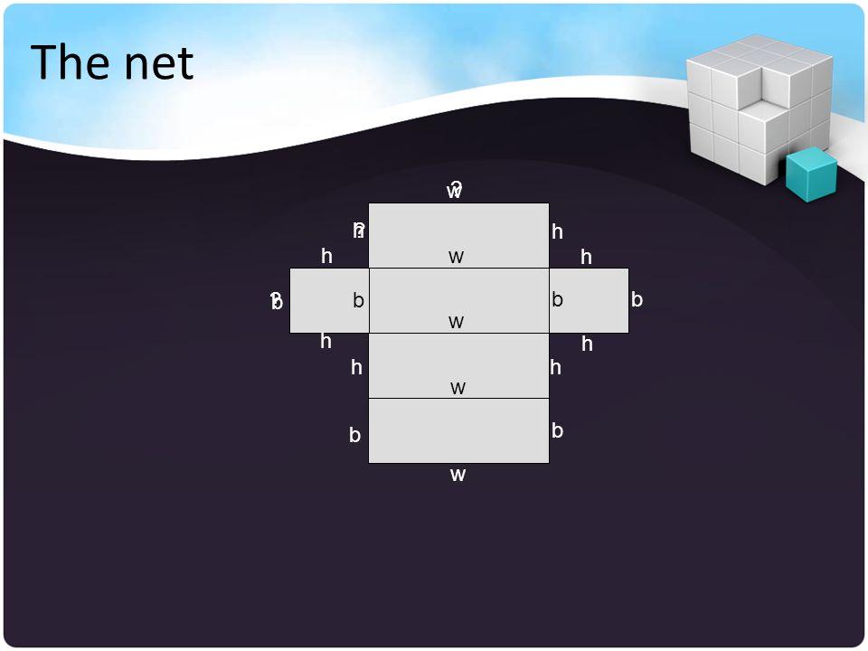 The net w w w w b h h h h w b b b bb h h h h