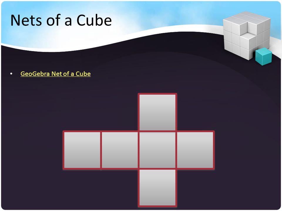 Nets of a Cube GeoGebra Net of a Cube