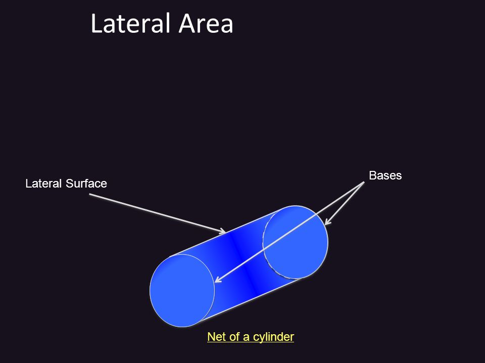 Lateral Area Bases Lateral Surface Net of a cylinder