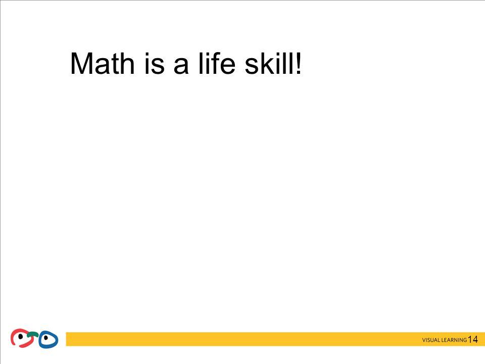 14 Math is a life skill!