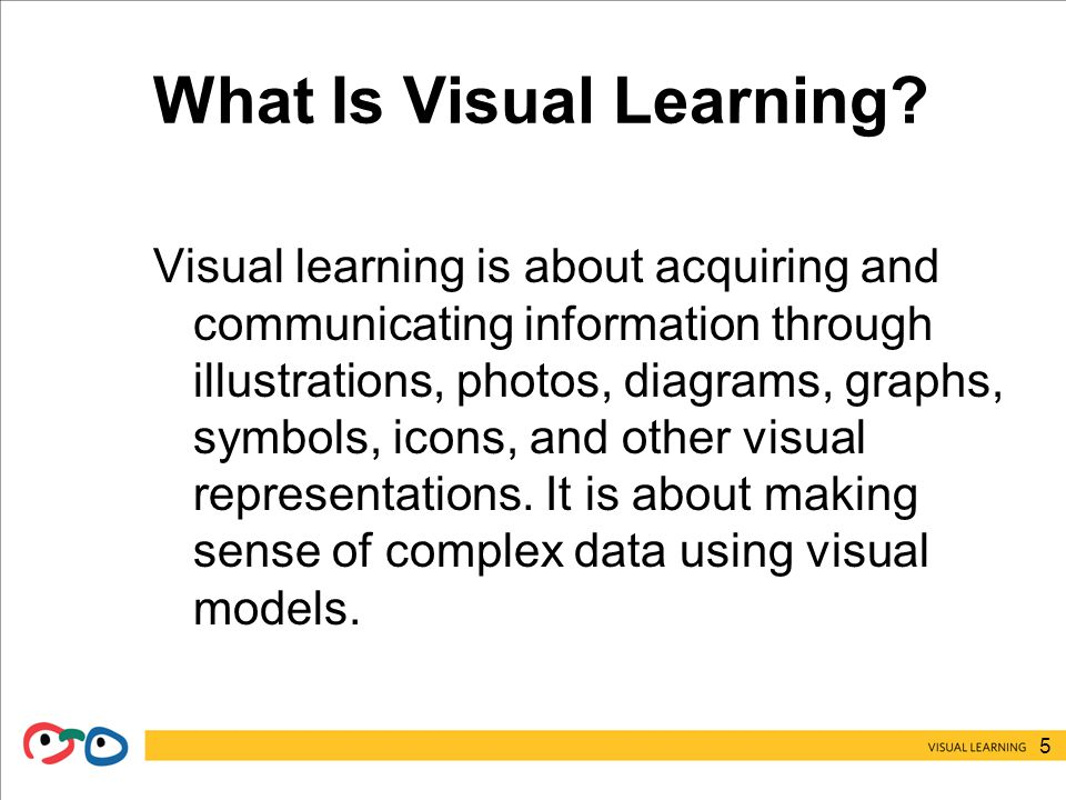 5 What Is Visual Learning.