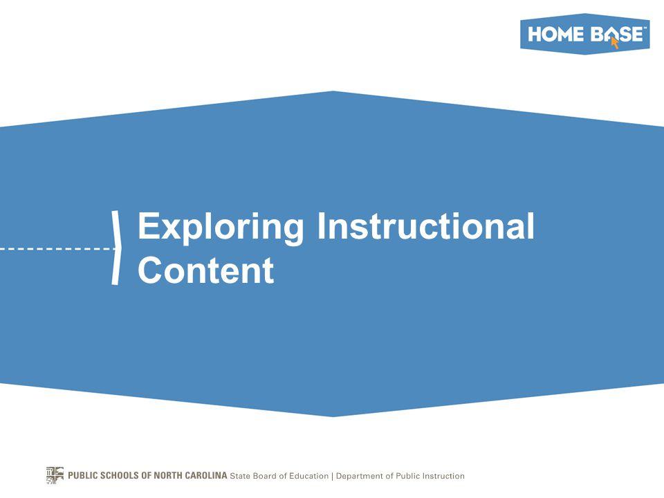 Exploring Instructional Content