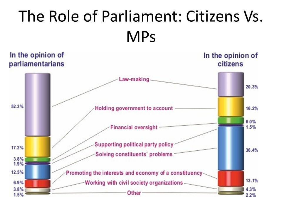 The Role of Parliament: Citizens Vs. MPs