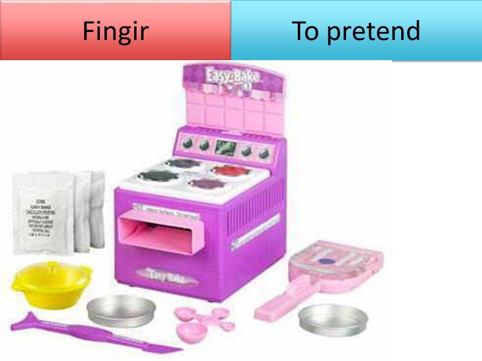 Fingir To pretend