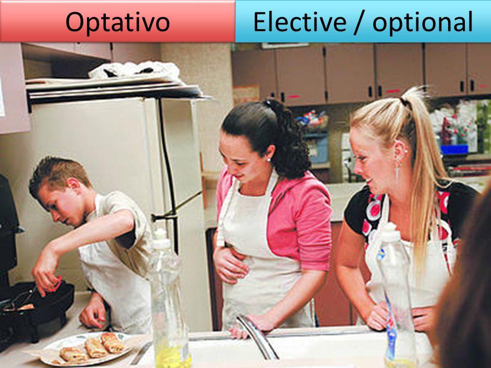 Optativo Elective / optional
