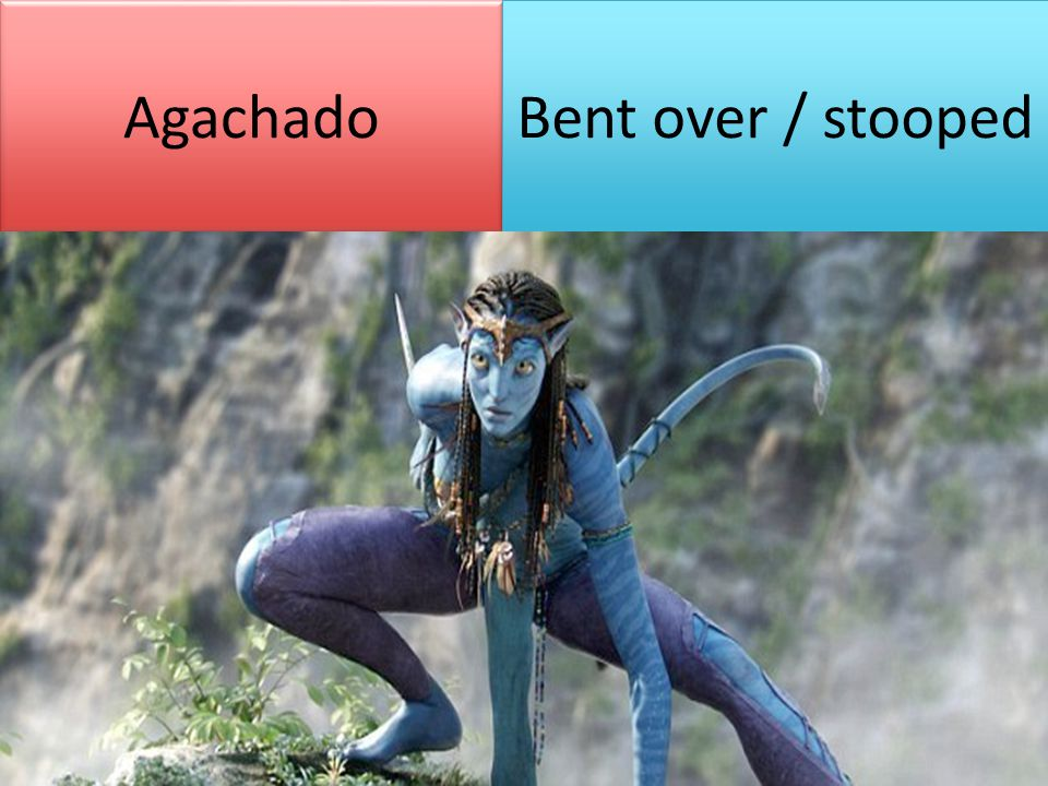 Agachado Bent over / stooped