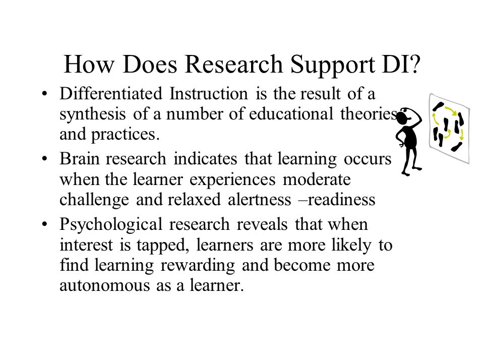 How Does Research Support DI.