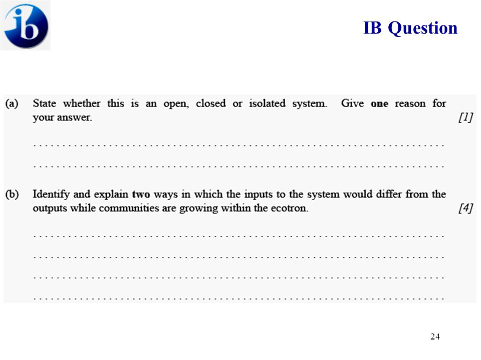 IB Question 23