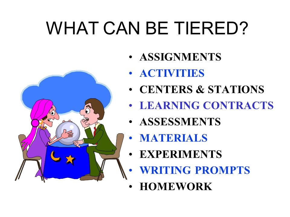 WHAT CAN BE TIERED.