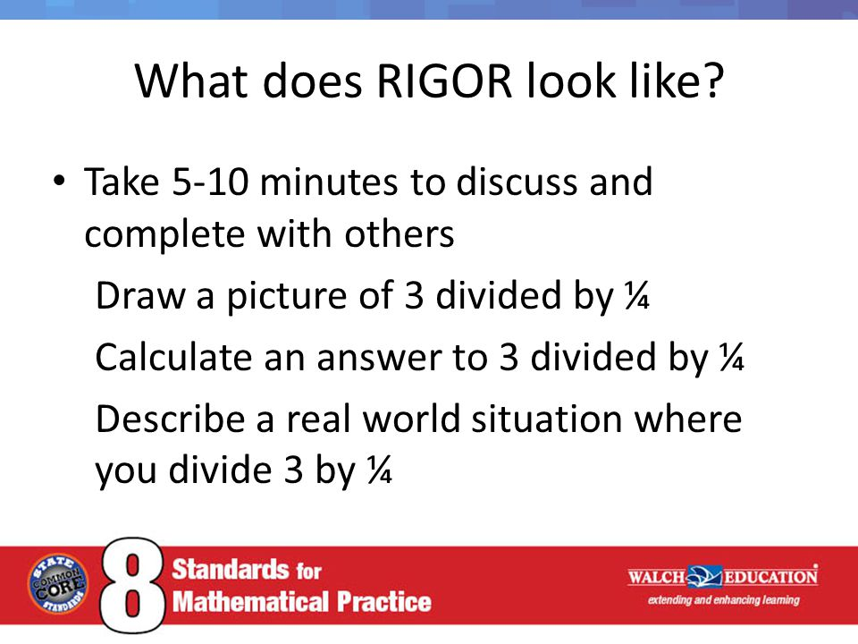 What does RIGOR look like.