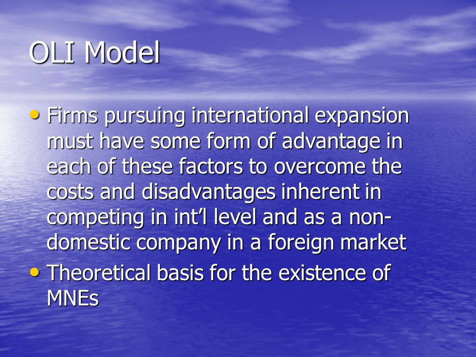 Uppsala Model How firms develop from domestic to international firms How firms develop from domestic to international firms Also know as stages model of internationalization Also know as stages model of internationalization Firms go through two related processes of development Firms go through two related processes of development