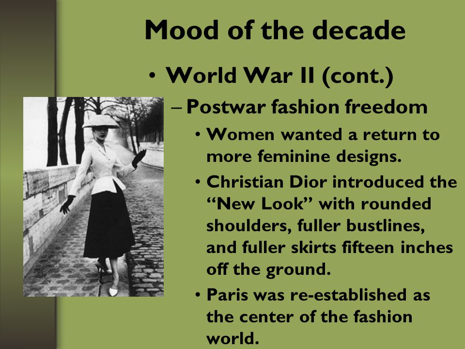 Mood of the decade (cont.) Women's competitive and adventure sports—Example: WNBA –Athletic shoes –Sports bras