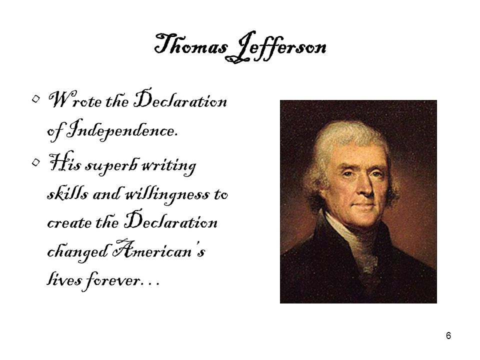 7 Declaration of Independence The Declaration of Independence freed Georgians, as well as the rest of America, from Britain's control.