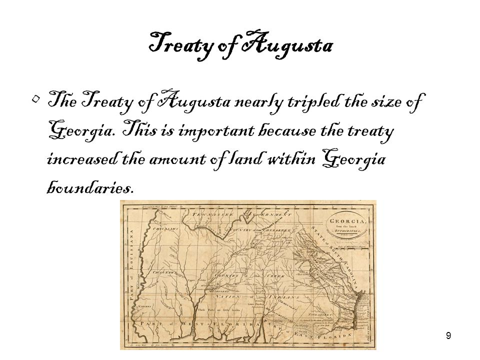 10 Georgia Constitution of 1777 Though it has been changed many times, the Georgia Constitution of 1777 was the first form of an individual state system of government for Georgia.