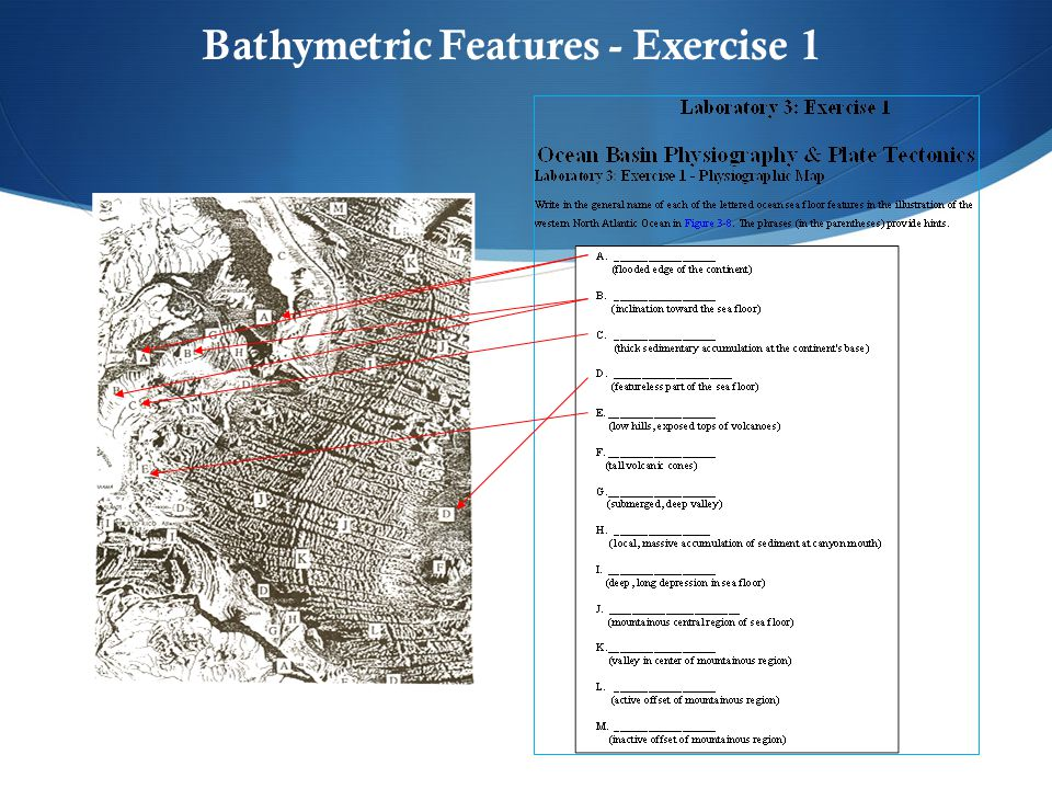 Bathymetric Features - Exercise 1