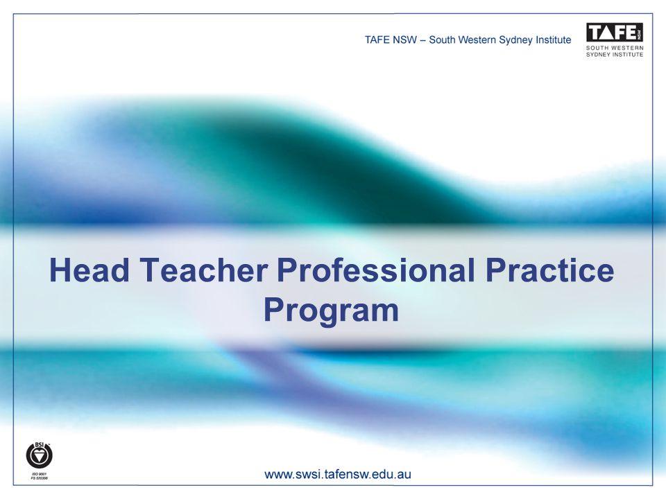 Head Teacher Professional Practice Program