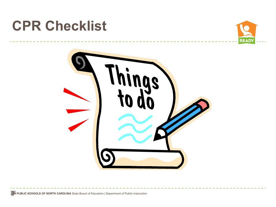CPR Checklist