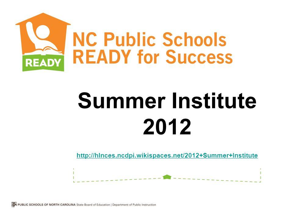 NCDPI Summer Institutes