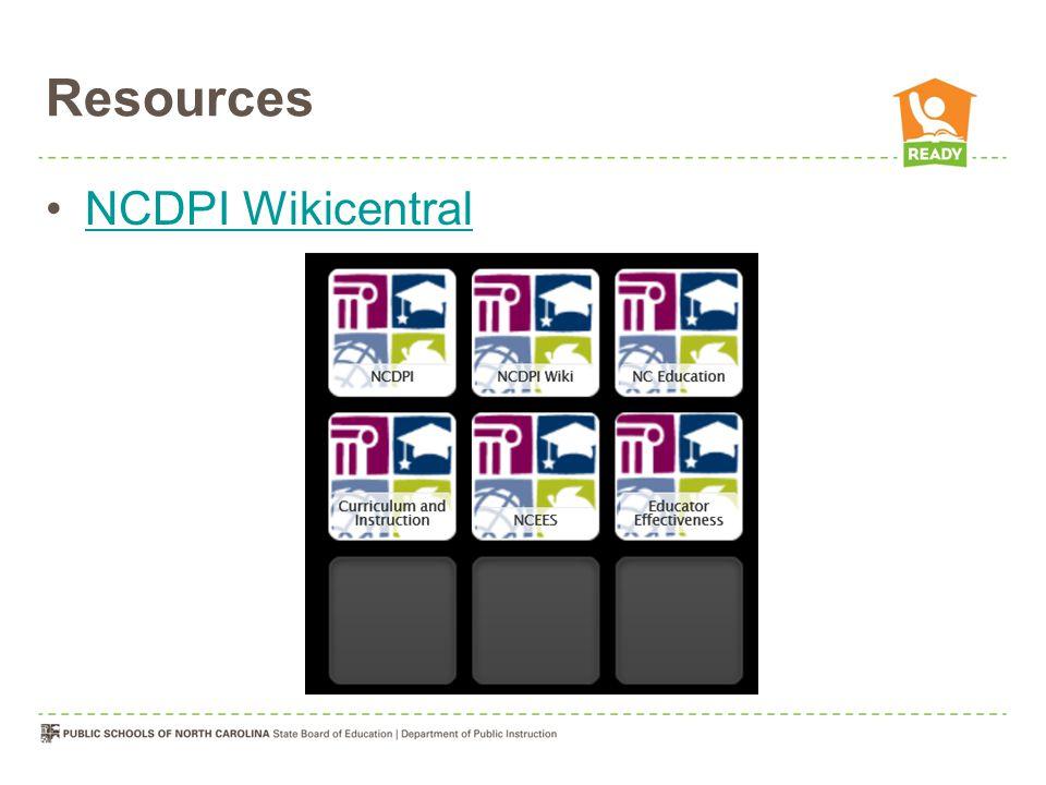 NCDPI Wikicentral