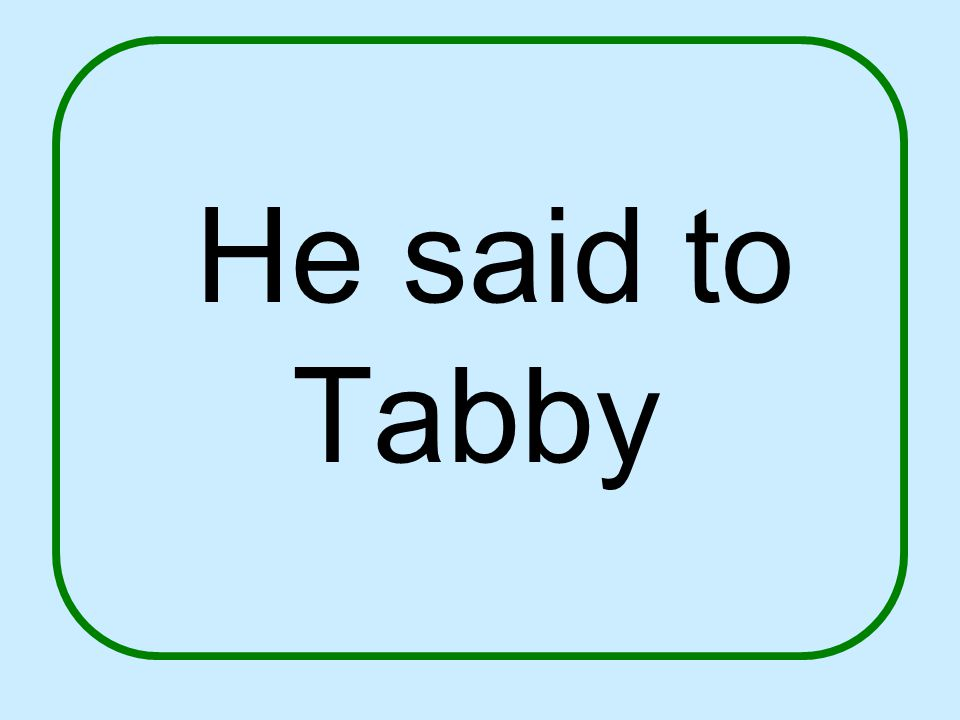 He said to Tabby