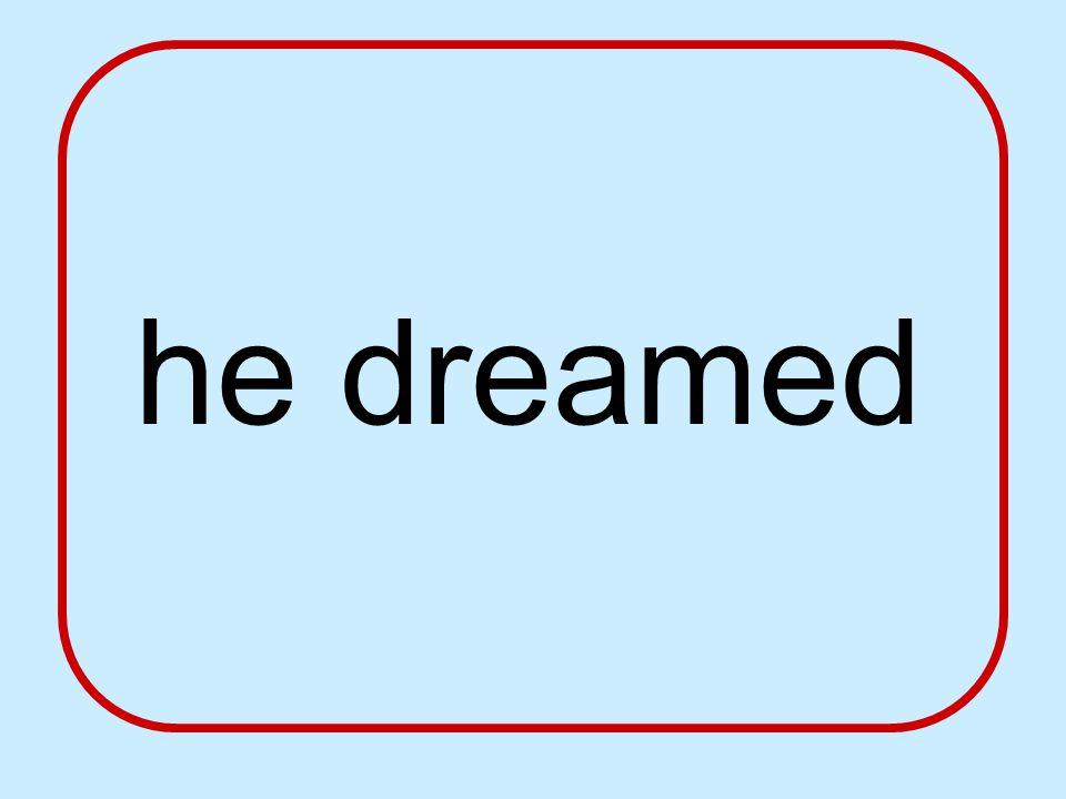 he dreamed