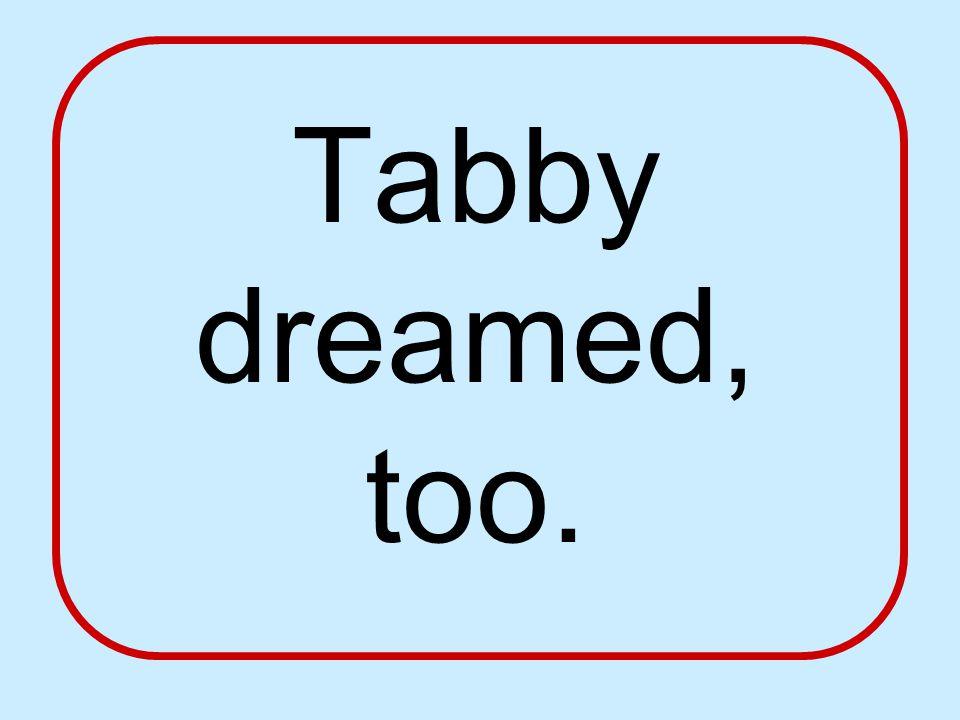 Tabby dreamed, too.