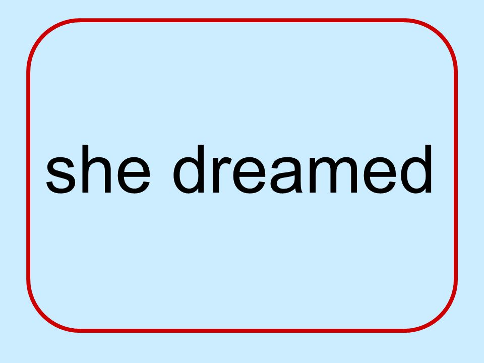 she dreamed
