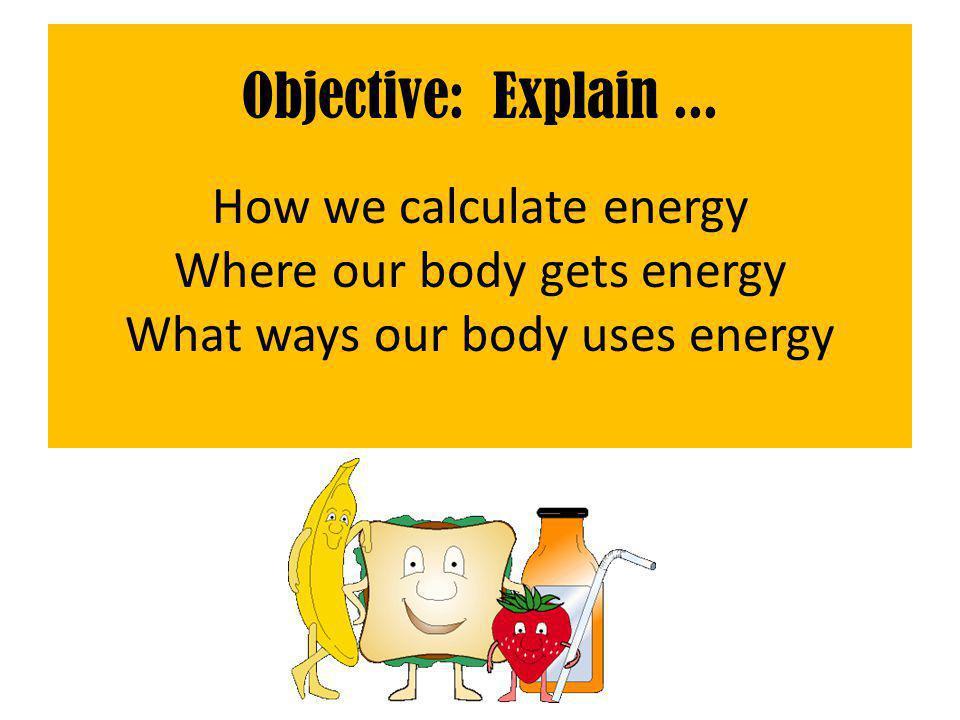 Objective: Explain...