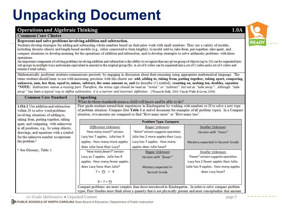 Unpacking Document